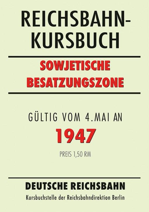 Reichsbahn-Kursbuch Sowjetische Besatzungszone 1947