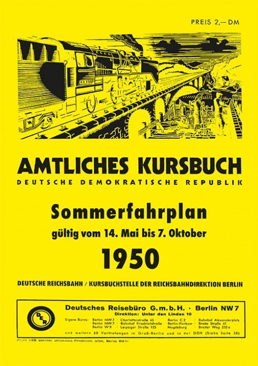Amtliches Kursbuch der Deutschen Reichsbahn - Sommerfahrplan 1950 (Reprint)