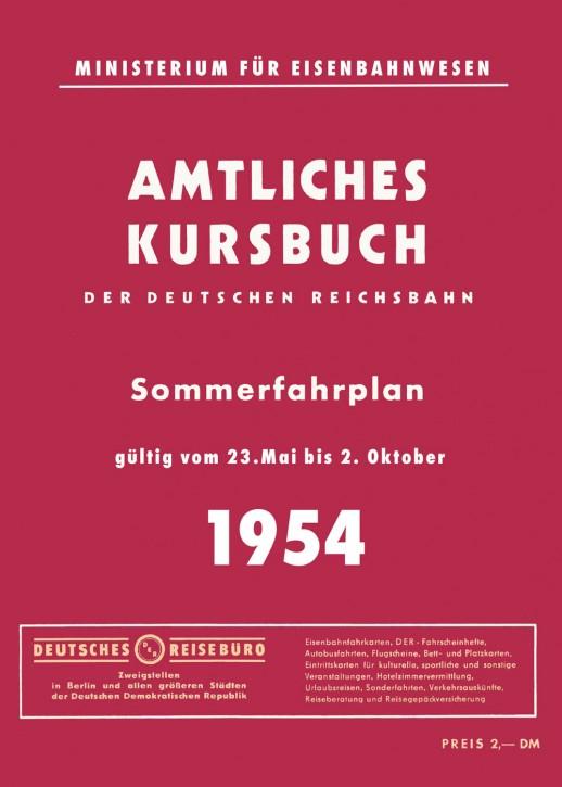 Kursbuch der Deutschen Reichsbahn - Sommerfahrplan 1954 (Reprint)
