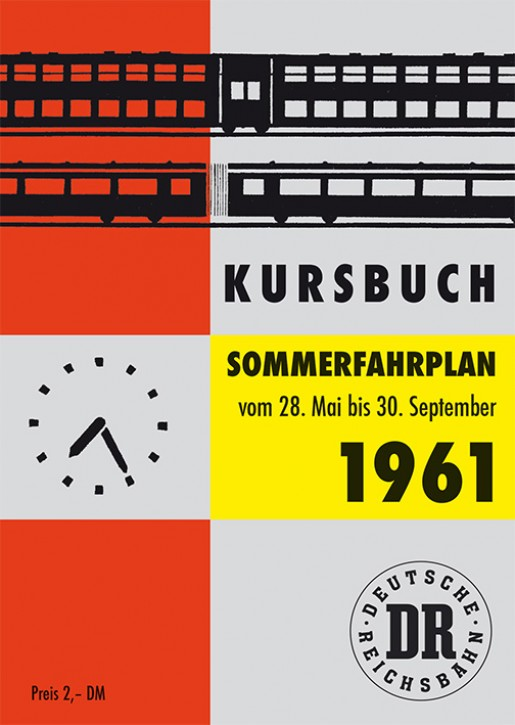 Kursbuch der Deutschen Reichsbahn - Sommerfahrplan 1961 (Reprint)