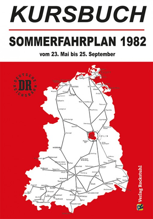 Kursbuch Sommerfahrplan 1982 (Reprint)