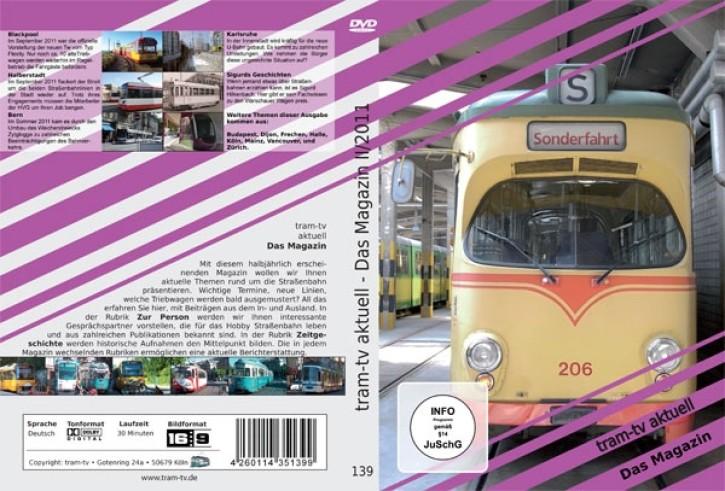 DVD: tram-tv aktuell. Das Magazin über die Straßenbahn 2-2011