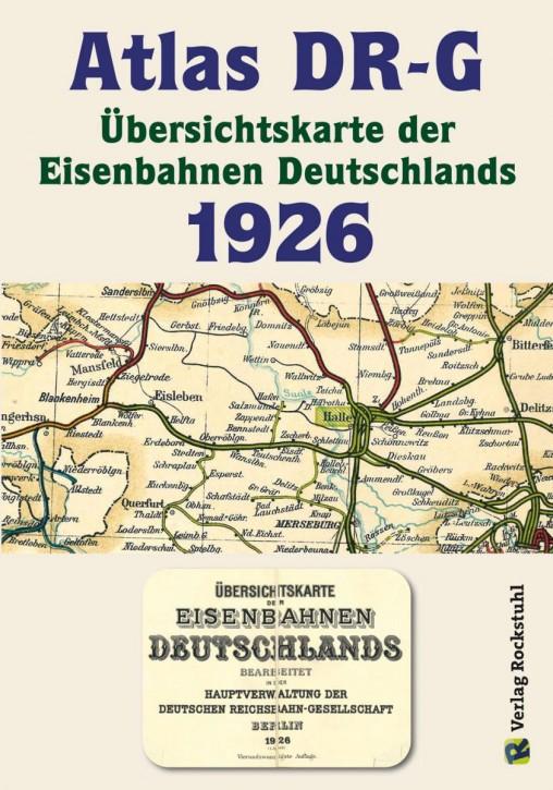 Atlas DR-G 1926. Übersichtskarte der Eisenbahnen Deutschlands
