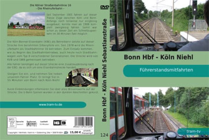 DVD: Die Kölner Straßenbahnlinie 16. Die Rheinuferbahn. Führerstandsmitfahrt Bonn Hbf. - Köln Niehl
