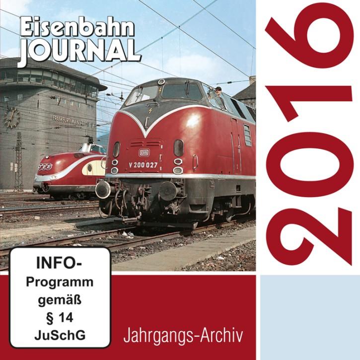 CD: Eisenbahn Journal Jahrgangs-Archiv 2016