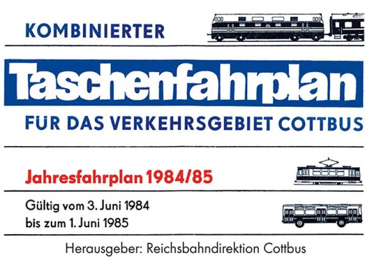 Taschenfahrplan für das Verkehrsgebiet Cottbus 1985/86 (Reprint)