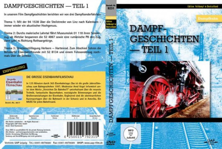 DVD: Dampfgeschichten Teil 1