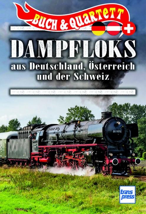 Dampfloks aus Deutschland, Österreich und Schweiz (Buch & Quartett)