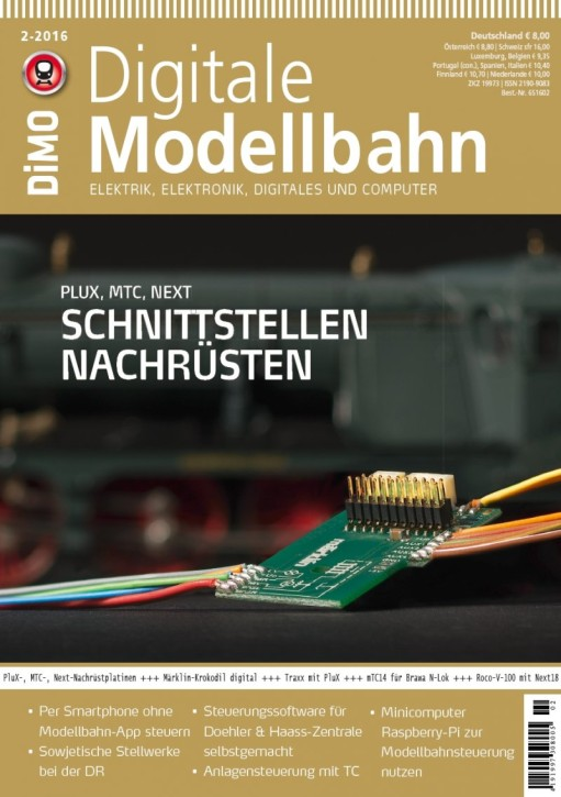 Digitale Modellbahn 2-2016. Schnittstellen nachrüsten