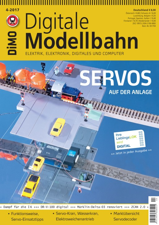 Digitale Modellbahn 4-2017. Servos auf der Anlage