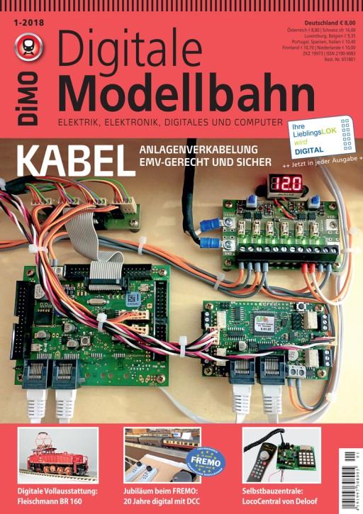 Digitale Modellbahn 1-2018. Kabel - Anlagenverkabelung emv-gerecht und sicher