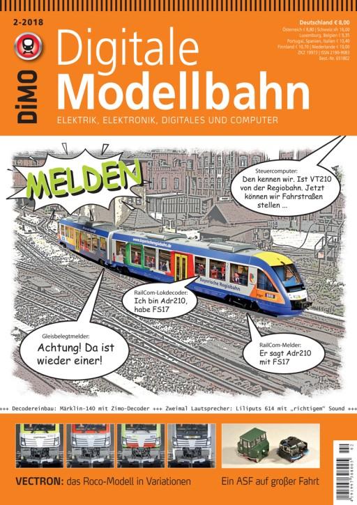 Digitale Modellbahn 2-2018. Melden
