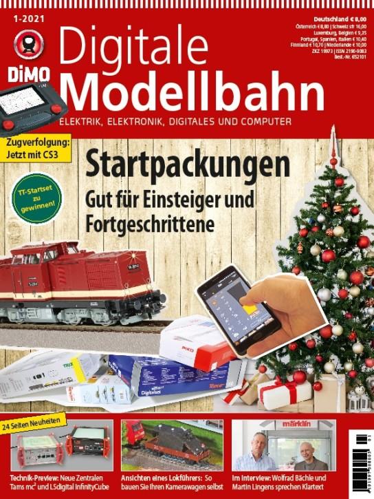 Digitale Modellbahn 1-2021: Startpackungen. Gut für Einsteiger und Fortgeschrittene