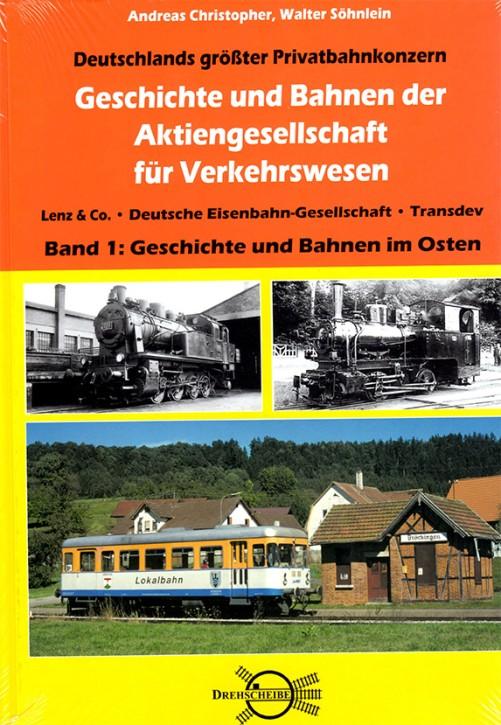Geschichte und Bahnen der Aktiengesellschaft für Verkehrswesen Lenz & Co., Deutsche Eisenbahn-Gesellschaft, Transdev Band 1. Andreas Christopher und Walter Söhnlein