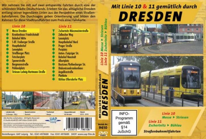 DVD: Mit Linie 10 & 11 gemütlich durch Dresden - Straßenbahnmitfahrten