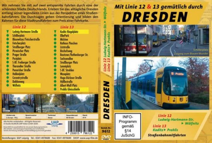 DVD: Mit Linie 12 & 13 gemütlich durch Dresden - Straßenbahnmitfahrten