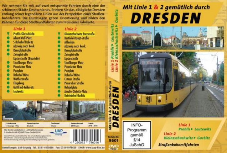 DVD: Mit Linie 1 & 2 gemütlich durch Dresden - Straßenbahnmitfahrten