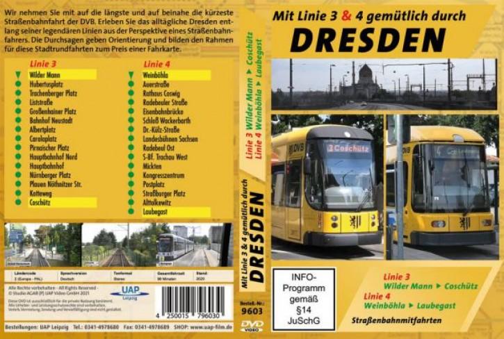 DVD: Mit Linie 3 & 4 gemütlich durch Dresden - Straßenbahnmitfahrten