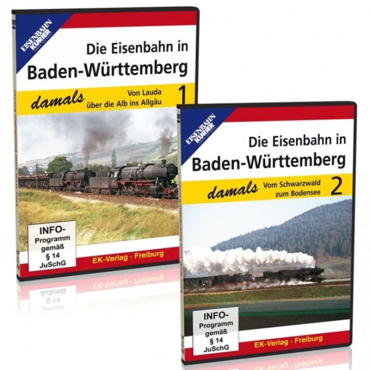 DVD: Die Eisenbahn in Baden-Württemberg damals Teile 1 + 2 im Sparpaket