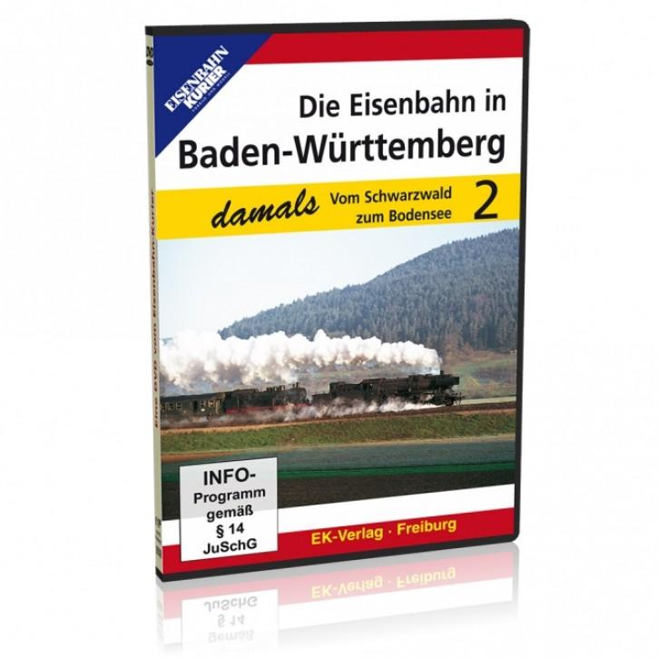 DVD: Die Eisenbahn in Baden-Württemberg damals 2. Vom Schwarzwald zum Bodensee