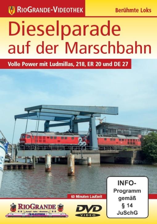 DVD: Dieselparade auf der Marschbahn. Volle Power mit Ludmillas, 218, ER 20 und DE 27