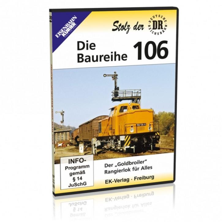 """DVD: Stolz der DR. Die Baureihe 106. Der """"Goldbroiler"""" - Rangierlok für Alles"""