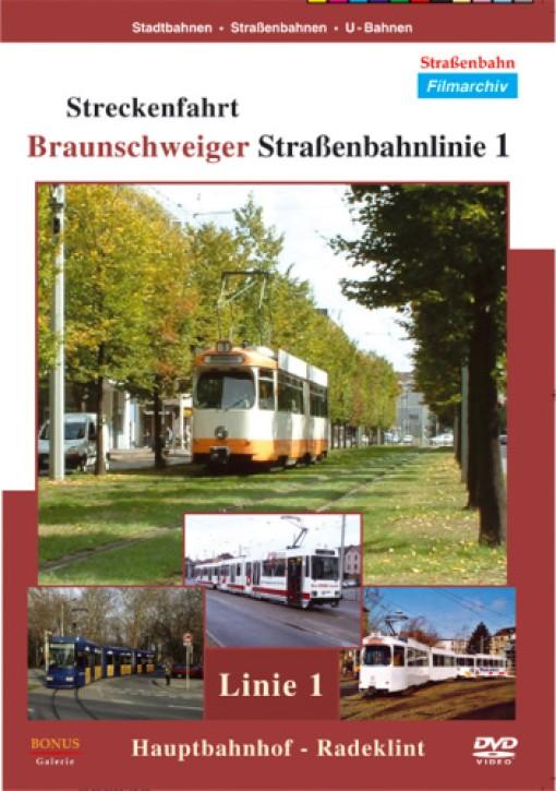 DVD: Braunschweig, Streckenfahrt Straßenbahnlinie 1 Hauptbahnhof - Radeklint