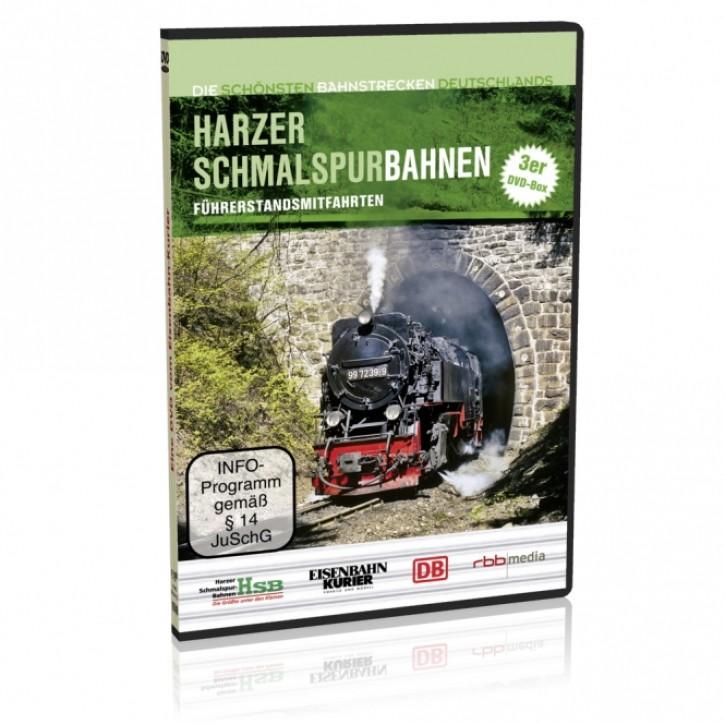 DVD: Die schönsten Bahnstrecken Deutschlands. Harzer Schmalspurbahnen. Brockenbahn, Harzquerbahn, Selketalbahn + Abzweig Stiege - Hasselfelde
