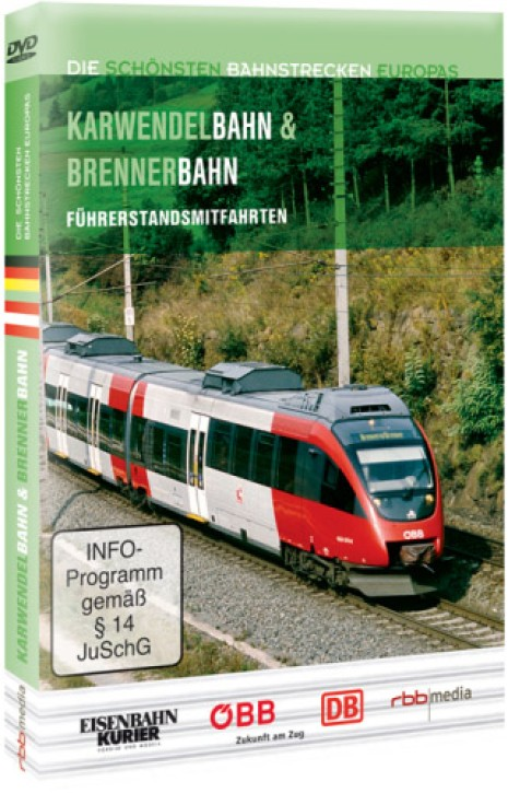DVD: Die schönsten Bahnstrecken Europas. Karwendelbahn und Brennerbahn