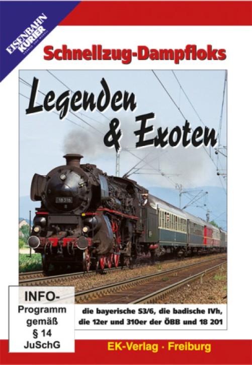 DVD: Schnellzug-Dampfloks. Legenden und Exoten - die bayerische S3/6, die badische IVh, die 12er und 310er der ÖBB und 18 201