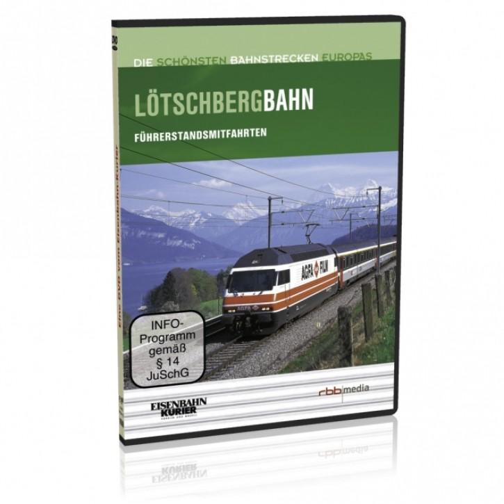 DVD: Die schönsten Bahnstrecken Europas. Schweiz. Lötschbergbahn Brig - Bern