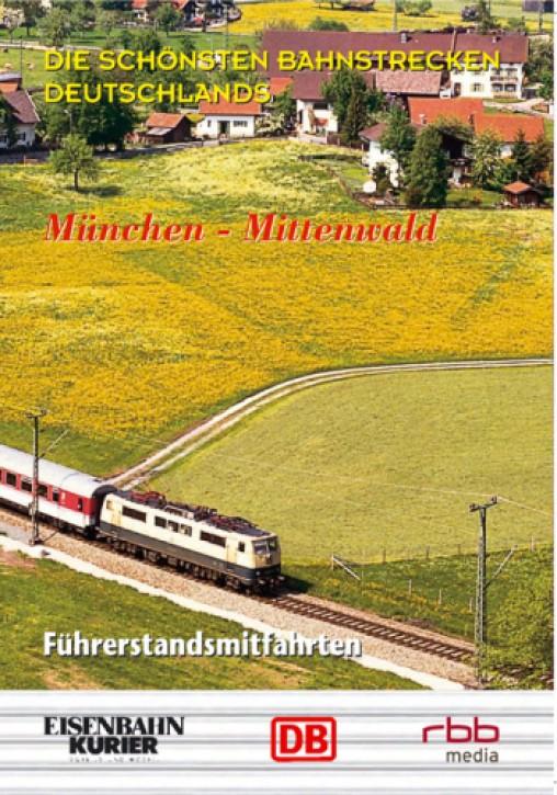 DVD: Die schönsten Bahnstrecken Deutschlands. München - Mittenwald