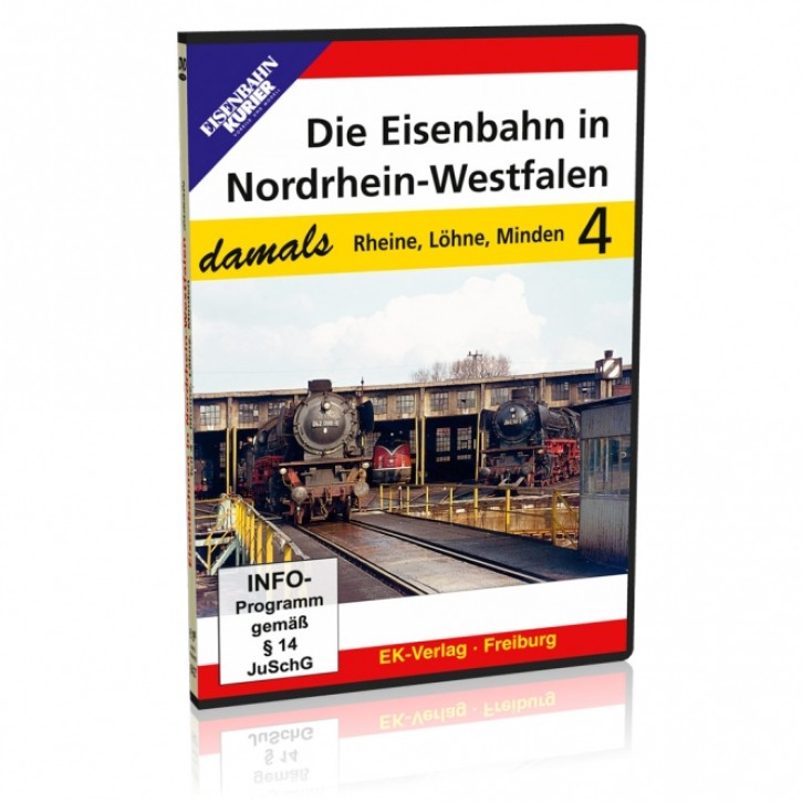 DVD: Die Eisenbahn in Nordrhein-Westfalen damals Teile 1-4 im Sparpaket