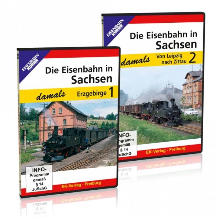 DVDs: Die Eisenbahn in Sachsen damals Teile 1 + 2