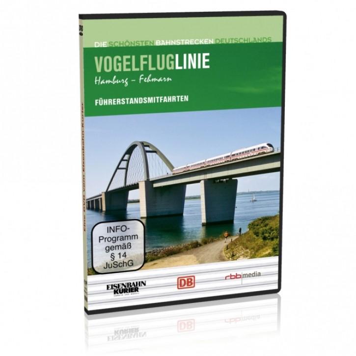 DVD: Die schönsten Bahnstrecken Deutschlands. Vogelfluglinie Hamburg - Fehmarn inklusive Fährauffahrt