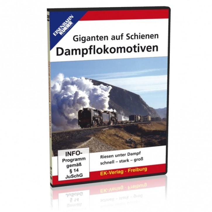 DVD: Giganten auf Schienen - Dampflokomotiven. Riesen unter Dampf: schnell - stark - groß