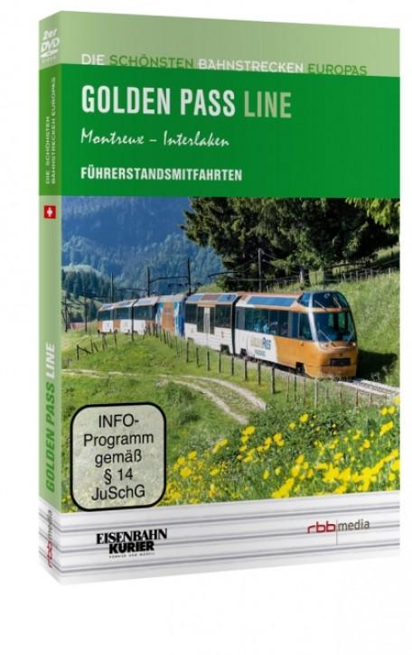 DVD: Die schönsten Bahnstrecken Europas. Golden Pass Line Montreux - Interlaken