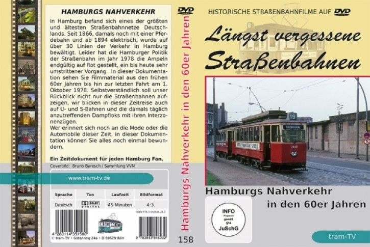 DVD: Längst vergessene Straßenbahnen. Hamburgs Nahverkehr in den 60er Jahren