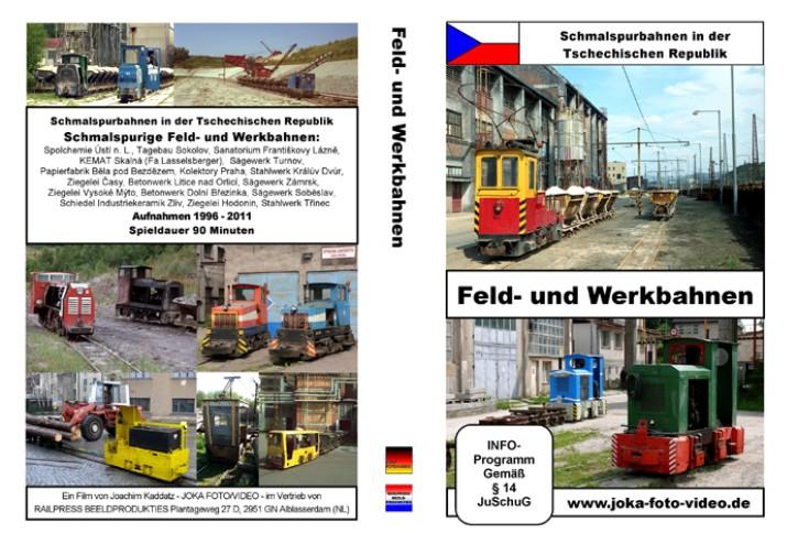 DVD: Schmalspurbahnen in der Tschechischen Republik. Feld- und Werkbahnen