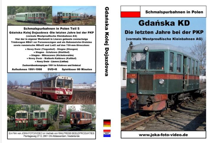 DVD: Schmalspurbahnen in Polen. Gdanska KD - die letzten Jahre bei der PKP (vormals Westpreußische Kleinbahnen AG)