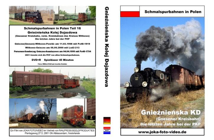 DVD: Schmalspurbahnen in Polen. Gnieznienska KD (Gnesener Kreisbahn). Die letzten Jahre bei der PKP