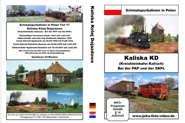 DVD: Schmalspurbahnen in Polen. Kreiskleinbahn Kalisch - Kaliska KD. Bei der PKP und der SKPL