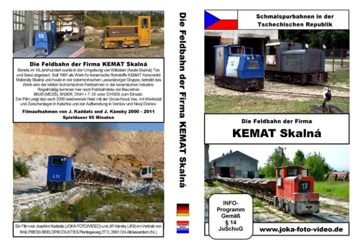 DVD: Schmalspurbahnen in der Tschechischen Republik. Die Feldbahn der Firma KEMAT Skalna