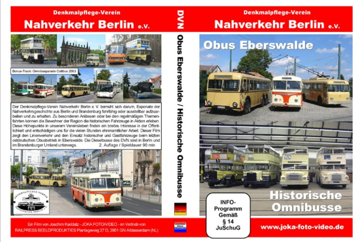 DVD: Nahverkehr Berlin. Obus Eberswalde. Historische Omnibusse