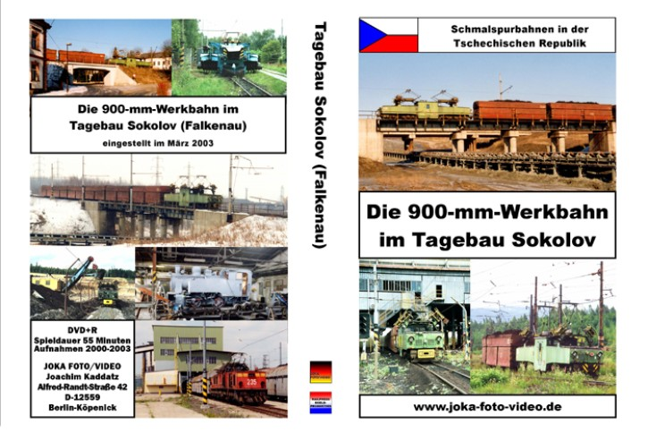 DVD: Schmalspurbahnen in der Tschechischen Republik. Die 900-mm-Bahn im Tagebau Sokolov (Falkenau)