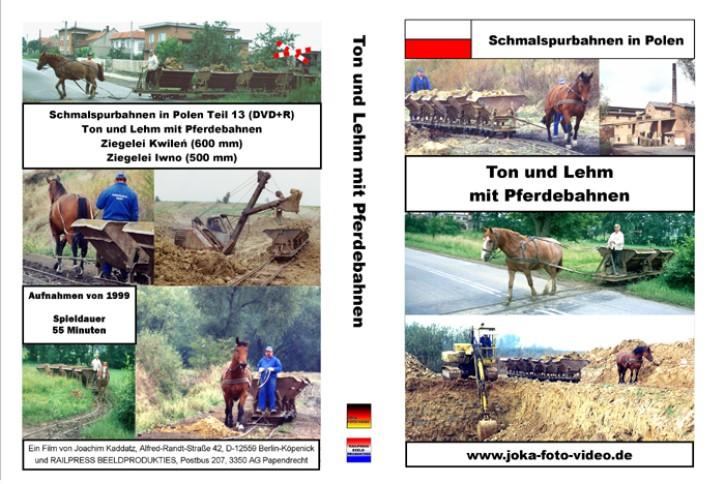 DVD: Schmalspurbahnen in Polen. Ton und Lehm mit Pferdebahnen