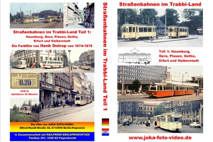 DVD: Straßenbahnen im Trabbi-Land Teil 1. Naumburg, Gera, Plauen, Gotha, Erfurt und Halberstadt