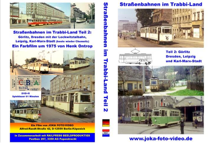 DVD: Straßenbahnen im Trabbi-Land Teil 2. Görlitz, Dresden, Leipzig, Karl-Marx-Stadt