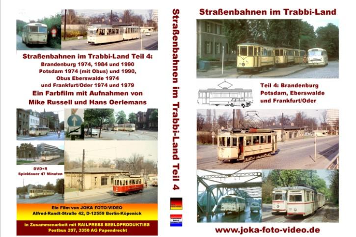 DVD: Straßenbahnen im Trabbi-Land Teil 4. Brandenburg, Potsdam, Eberswalde und Frankfurt/Oder