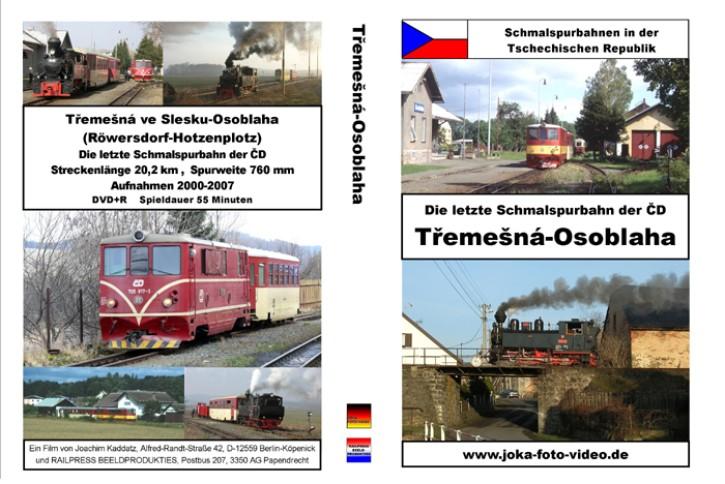 DVD: Schmalspurbahnen in der Tschechischen Republik. Die letzte Schmalspurbahn der CD - Tremesna-Osoblaha (Röwersdorf - Hotzenplotz)